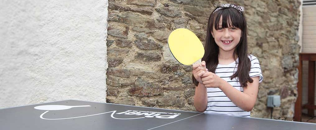 Girl Playing Table Tennis at William IV Truro